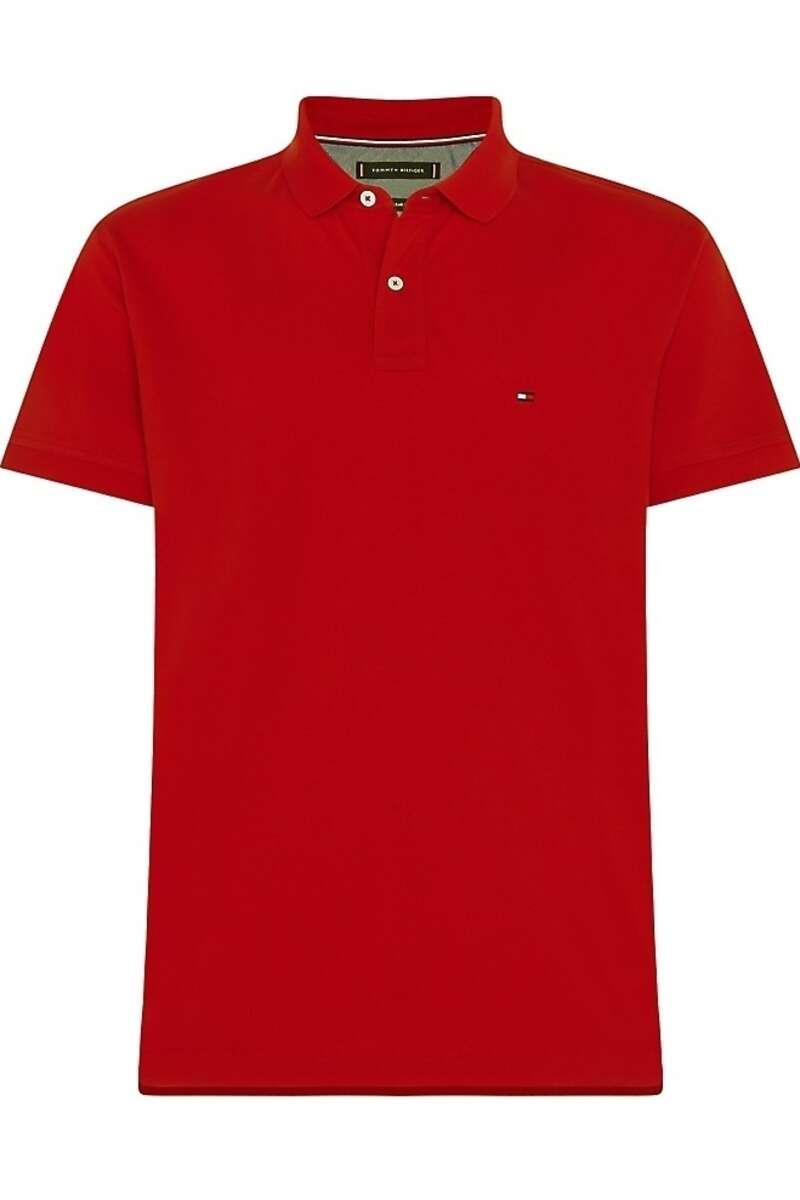 Tommy Hilfiger Regular Fit Poloshirt dunkelrot, Einfarbig M