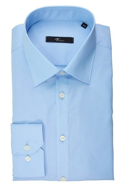 Venti Hemd - Slim Fit - hellblau, Einfarbig