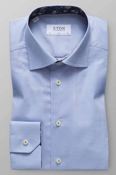 ETON Slim Fit Hemd hellblau, Einfarbig