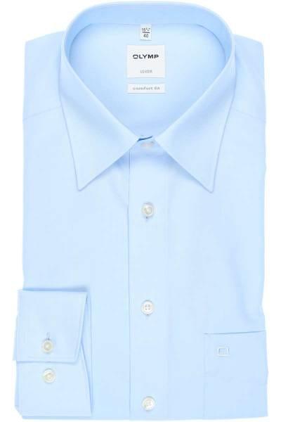 Olymp Luxor Comfort Fit Hemd bleu, Einfarbig
