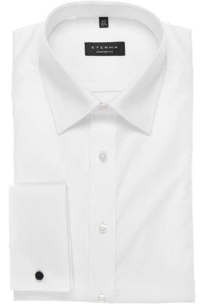 Eterna Gala Hemd - Comfort Fit - Umschlagmanschette - weiss, Einfarbig