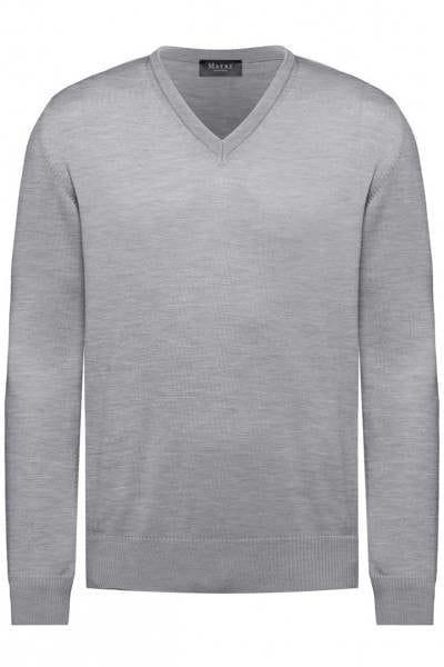 MAERZ Strick - V-Ausschnitt Pullover - grau