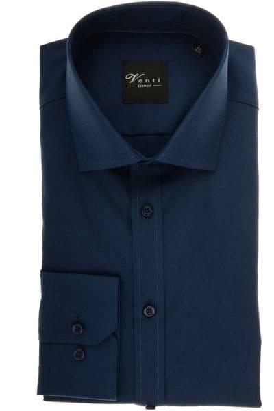Venti Modern Fit Hemd navy, Einfarbig