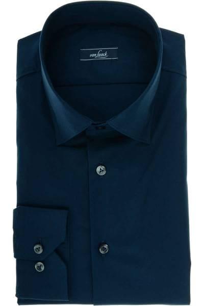 van Laack Blue Label Slim Fit Hemd dunkelblau, Einfarbig