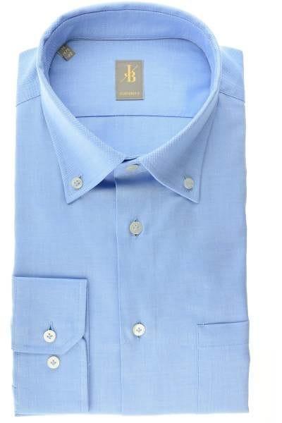 Jacques Britt Hemd - Custom Fit - blau, Einfarbig