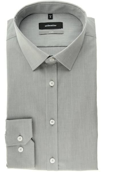Seidensticker Hemd - X-Slim - grau, Einfarbig