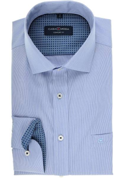 Casa Moda Comfort Fit Hemd blau/weiss, Feinstreifen