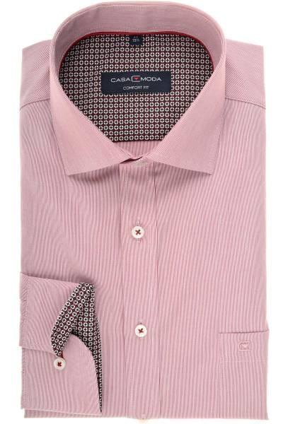 Casa Moda Comfort Fit Hemd rot/weiss, Feinstreifen