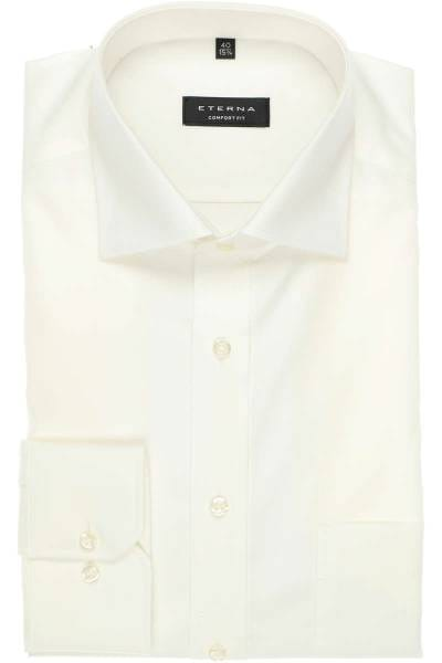 Eterna Hemd - Comfort Fit - beige, Einfarbig