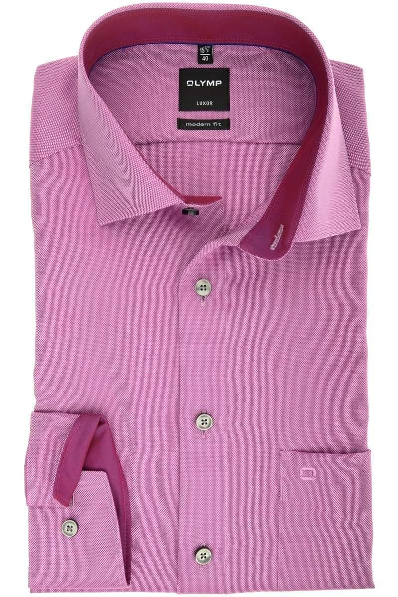 special sales buying new factory outlet Olymp Luxor Modern Fit shirt berry, Textured