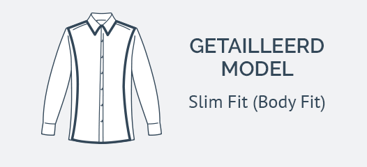 Navy Overhemd Slim Fit