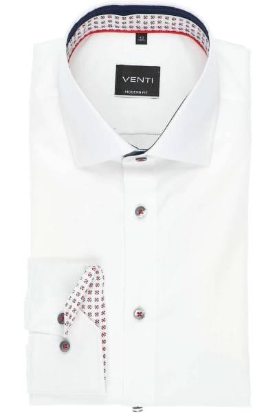 Venti Modern Fit Hemd weiss, Einfarbig