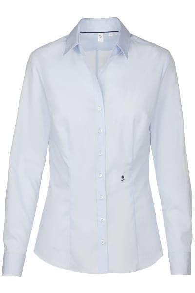 Seidensticker Bluse Slim Fit - hellblau , Einfarbig