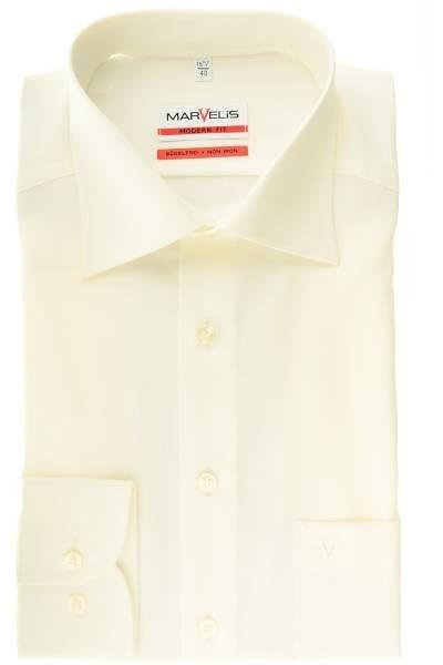 Marvelis Hemd - Modern Fit - beige, Einfarbig