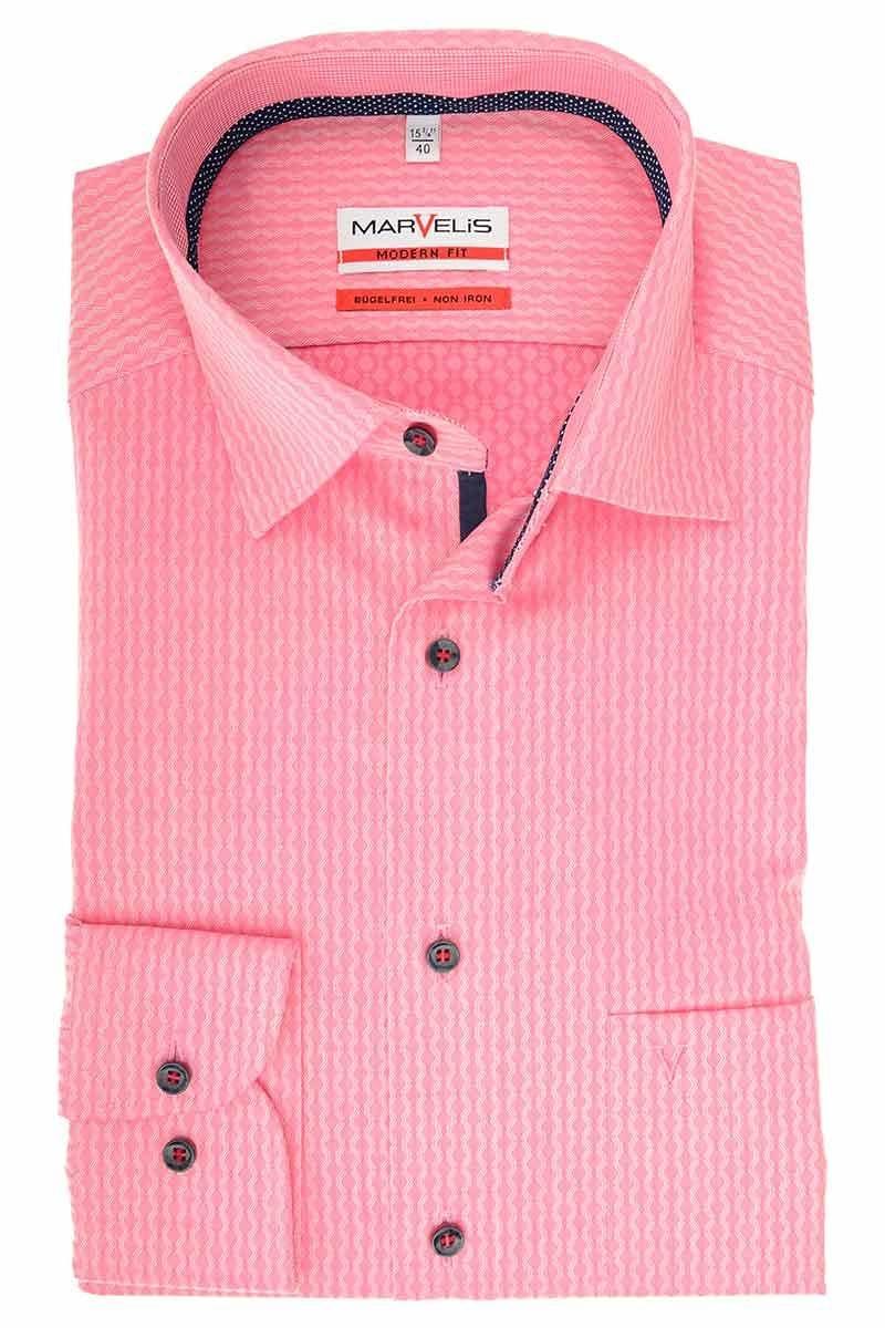 hochwertiges marvelis modern fit hemd in der farbe rosa. Black Bedroom Furniture Sets. Home Design Ideas