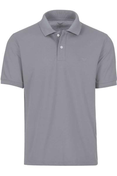 TRIGEMA Comfort Fit Poloshirt grau, Einfarbig