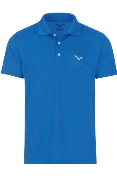 TRIGEMA COOLMAX Comfort Fit Poloshirt blau, Einfarbig