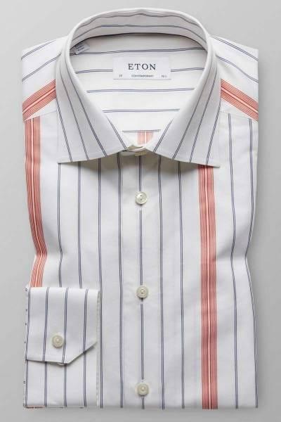 ETON Contemporary Fit Hemd blau/weiss, Gestreift