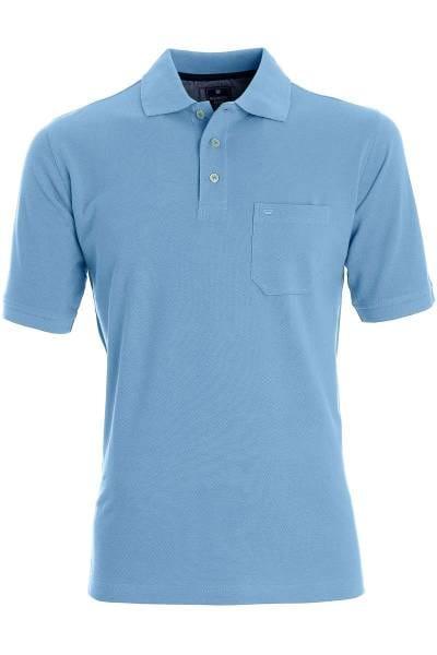 Redmond Casual Poloshirt hellblau, Einfarbig