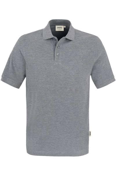 HAKRO Regular Fit Poloshirt grau, Meliert