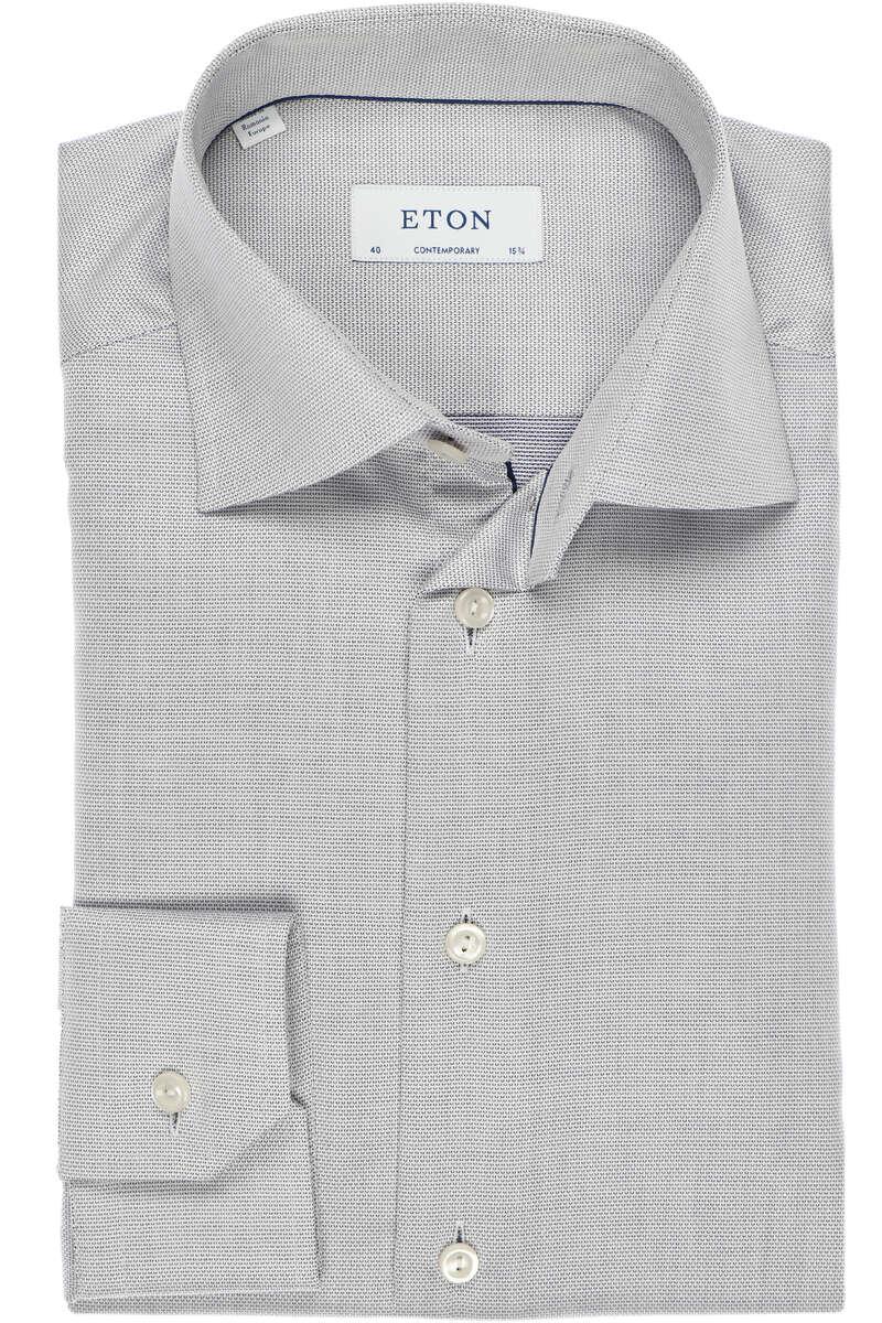 ETON Contemporary Fit Hemd beige/dunkelblau, Faux-uni 42 - L