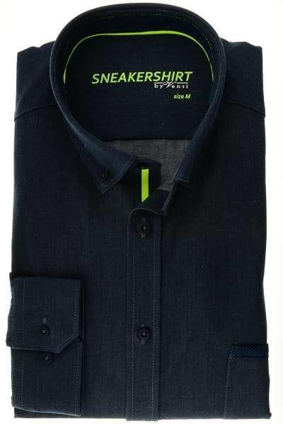 Venti Hemd - Modern Fit - anthrazit, Einfarbig