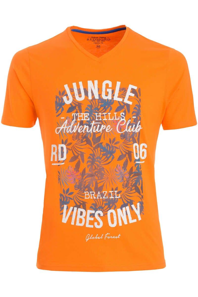 Redmond T-Shirt V-Ausschnitt beige, gemustert L