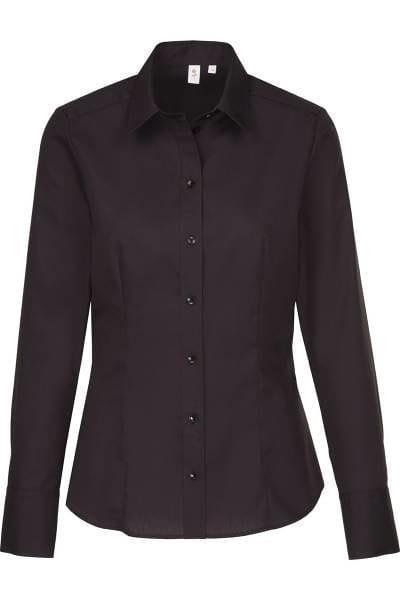 Seidensticker Bluse - schwarz, Einfarbig