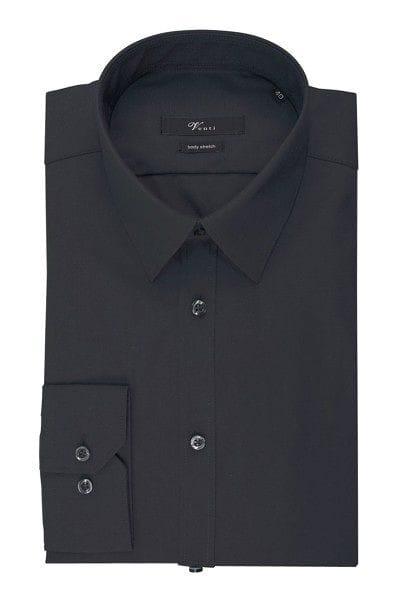 Venti Hemd - Body Fit - graphit, Einfarbig