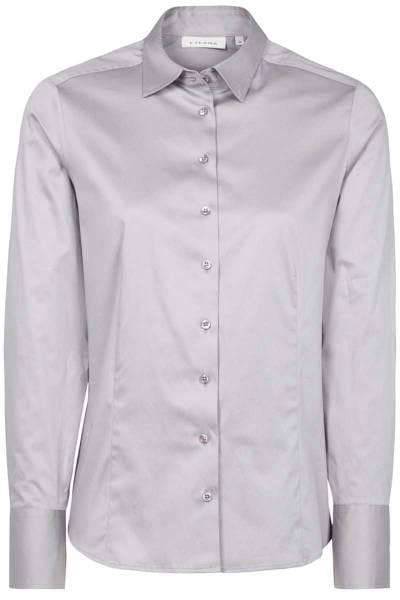 ETERNA Modern Classic Bluse grau, Einfarbig
