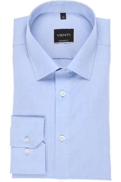 Venti Modern Fit Hemd hellblau, Einfarbig