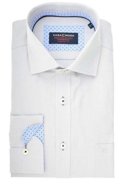 Casa Moda Comfort Fit Hemd grau, Strukturiert
