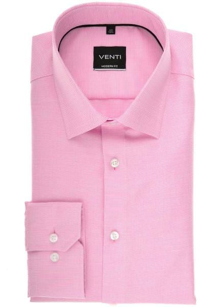 Venti Modern Fit Hemd pink, Faux-uni
