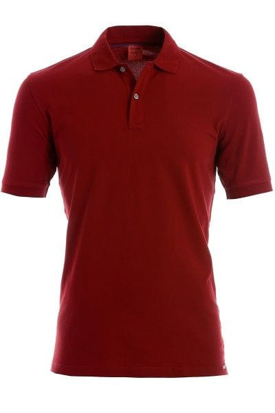 OLYMP Level Five Body Fit Poloshirt dunkelrot, Einfarbig
