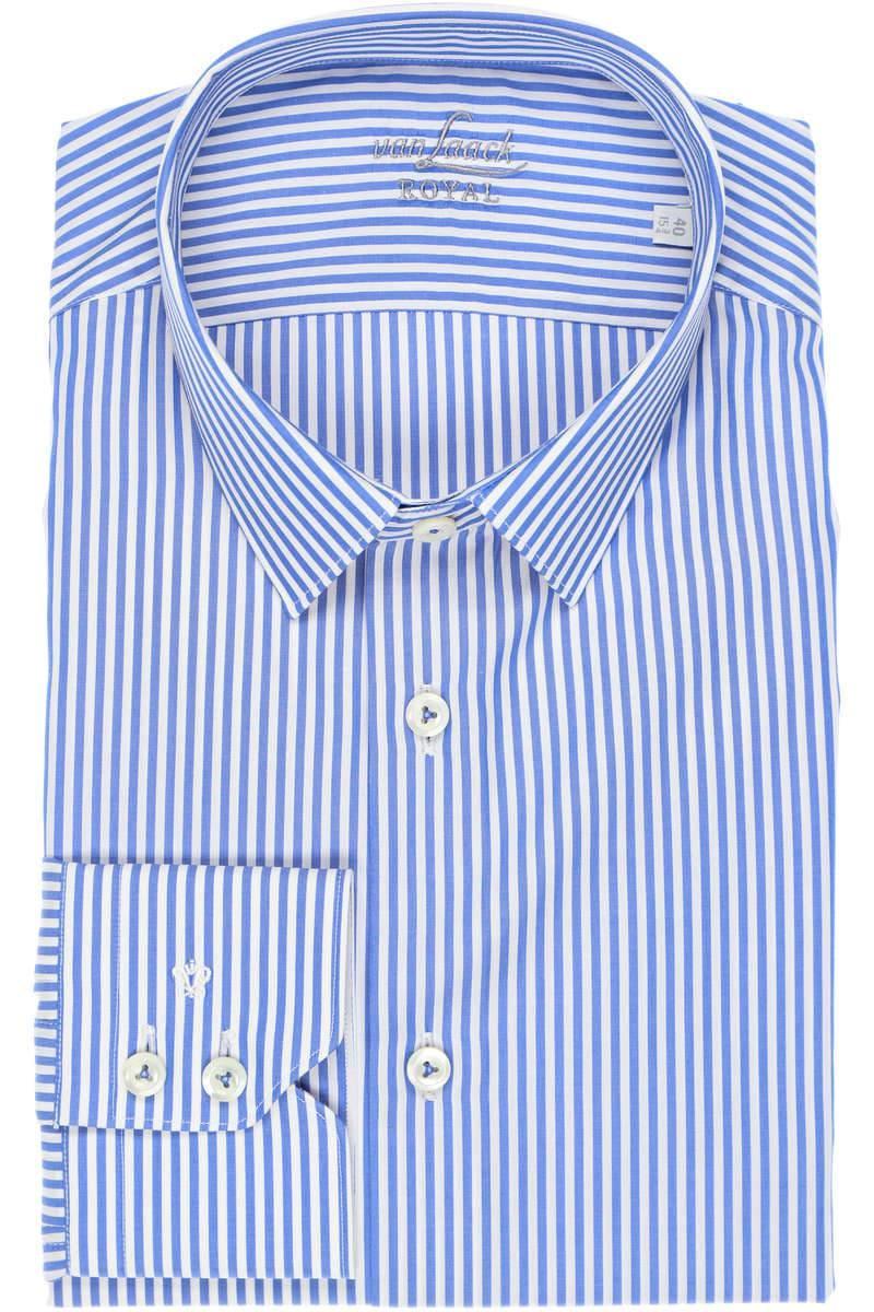van Laack Royal Tailor Fit Hemd blau/weiss, Gestreift