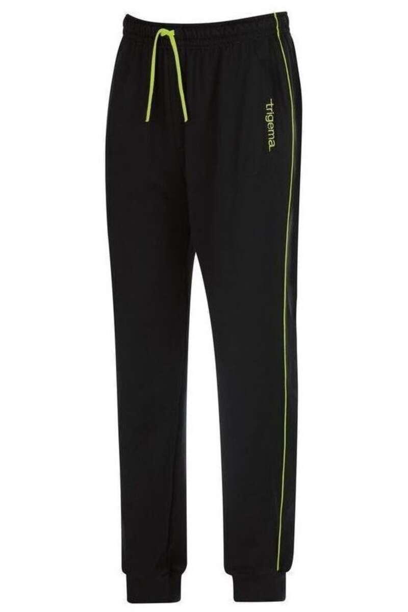 TRIGEMA Comfort Fit Jogginghose schwarz, bedruckt M