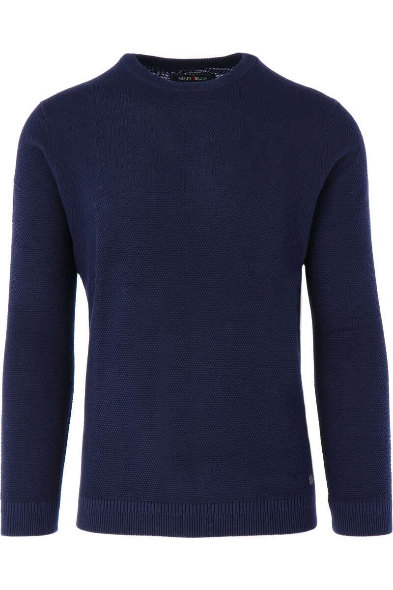 Marvelis Modern Fit Strickpullover Rundhals dunkelblau, einfarbig M