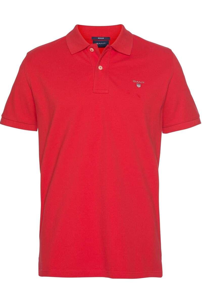 GANT Regular Fit Poloshirt dunkelrot, Einfarbig 3XL