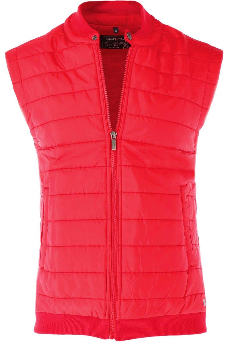 Marvelis Casual Modern Fit Weste Zip rot, einfarbig M