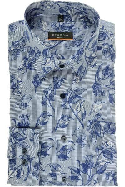 ETERNA Slim Fit Hemd blau/weiss, bedruckt