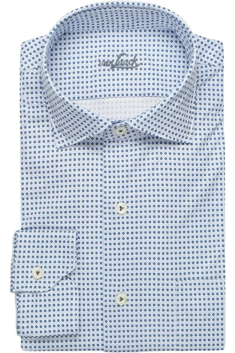 Van Laack Tailor Fit Jerseyhemd hellblau, Gemustert XL