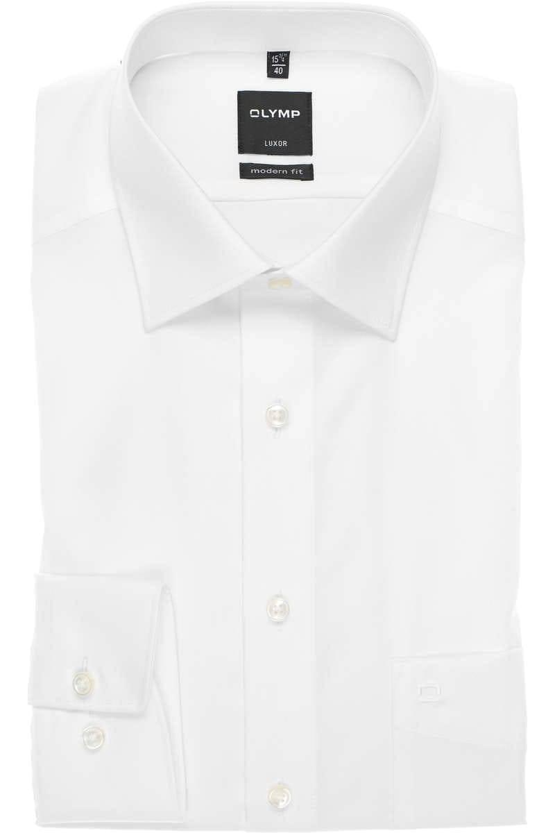kommt an verschiedene Stile beste Qualität OLYMP Luxor Modern Fit Hemd weiss, Einfarbig