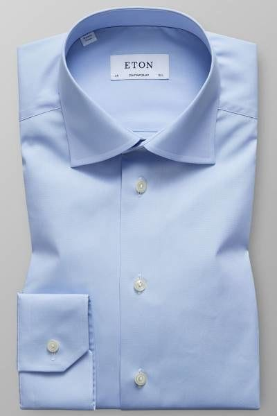 Eton Hemd - Contemporary Fit - hellblau, Einfarbig