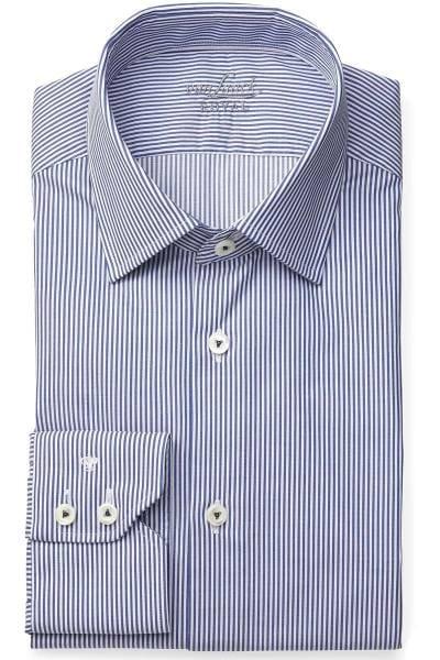 van Laack Tailor Fit Hemd blau/weiss, Gestreift