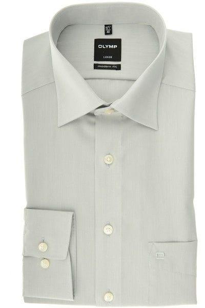 Olymp Luxor Modern Fit Hemd grau, Einfarbig