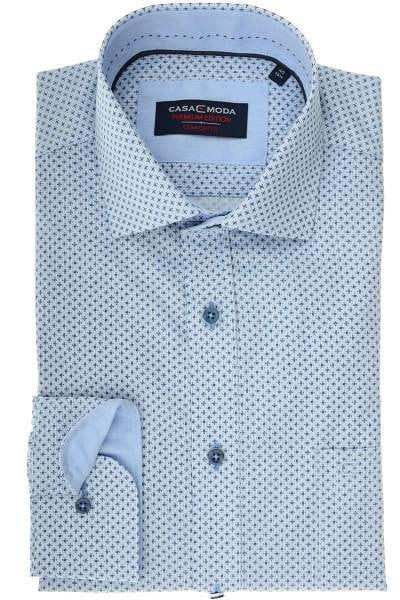 Casa Moda Comfort Fit Hemd blau/schwarz, Gemustert