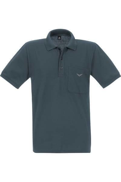 TRIGEMA Poloshirt - Comfort Fit - anthrazit, Einfarbig