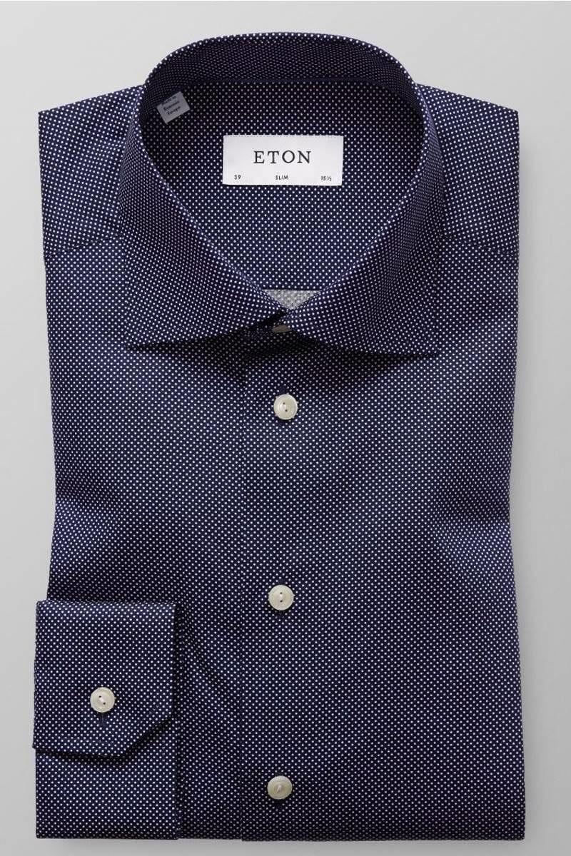best website 1e9d3 d2906 ETON Slim Fit Hemd schwarz/weiss, Gepunktet