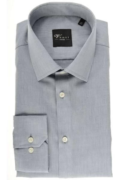 Venti Slim Fit Hemd grau, Einfarbig