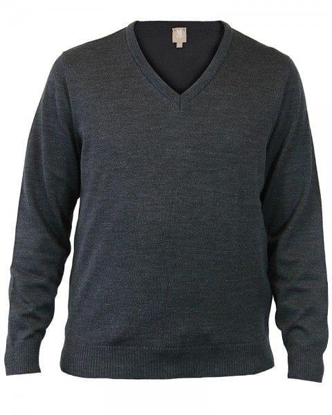 März Strick - V-Ausschnitt Pullover - anthrazit